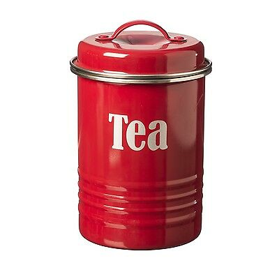 Typhoon Vintage Kitchen Tea Canister - Cream, Red, Black, Blue