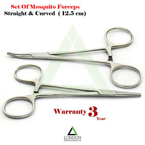 Mosquito-Forceps-Hemostat-Haemostatic-Clamp-Halsted-Artery-Surgical-Tools-New