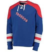 NHL New York Rangers Centre Lace-Up Sweatshirt Hockey Jersey New Mens TALL 3XL