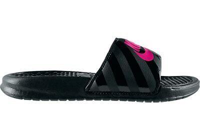 Nike Women's Benassi JDI Sandal  nk343881 061 Black/Vivid Pink