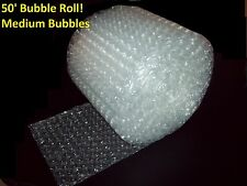 50 Foot Medium Bubble Wrap Roll 516 Bubbles 12 Wide Perforated Every 12