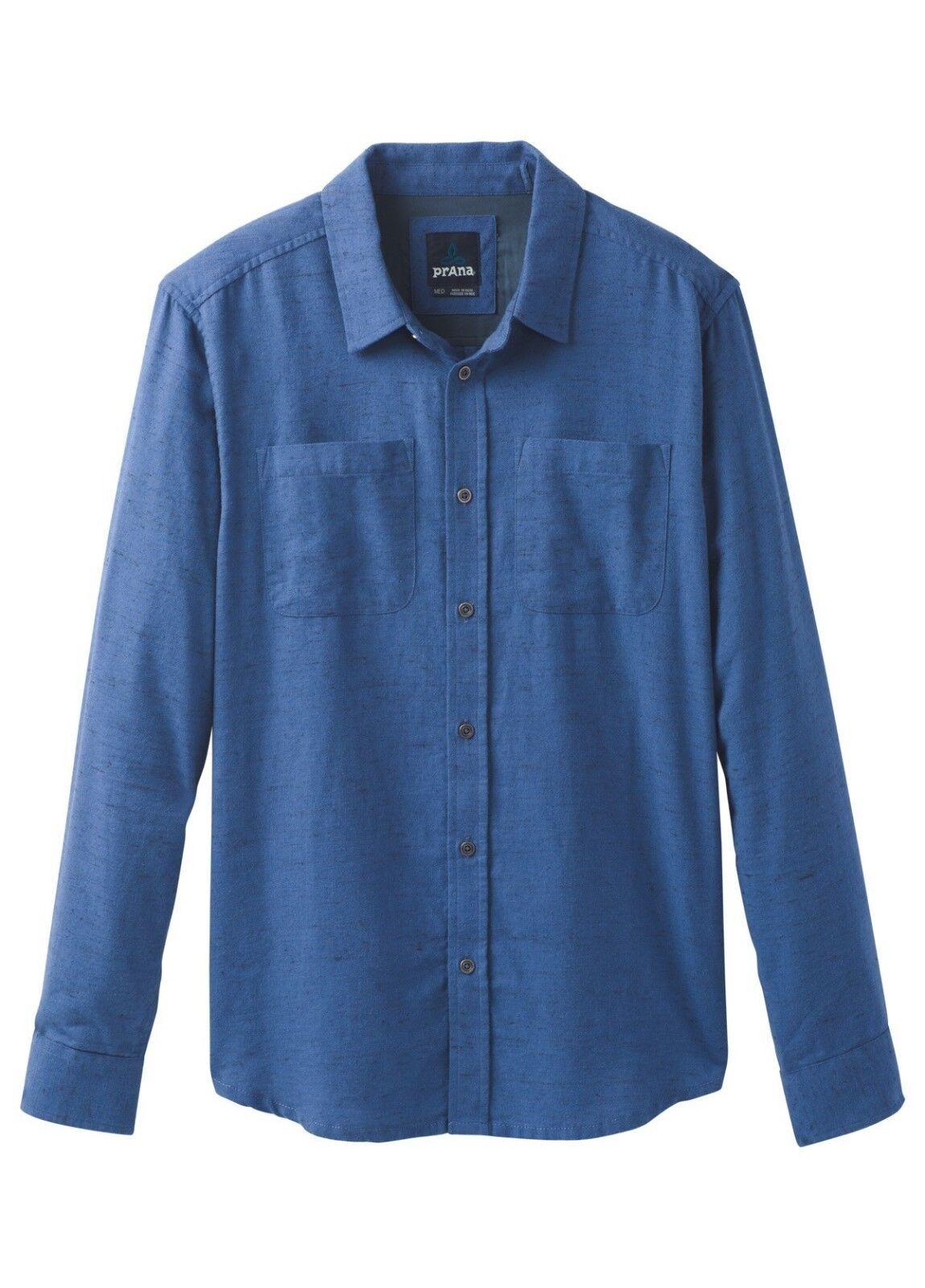 Prana Trey LS Flannel Shirt Langarm-Herrenhemd equinox Blau