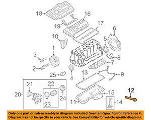 BMW-OEM-07-12-328i-3-0L-L6-Engine-Oil-Pan-Bolt-11132210959