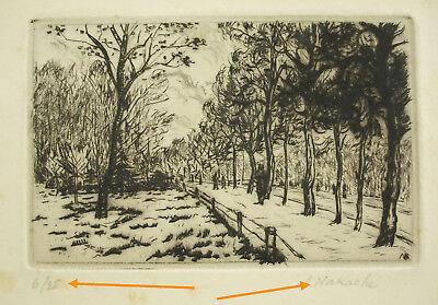 Armand Henri Nakache (1894-1976) Gravure Vers 1960 Signée Et Numérotée 6/25 Elegante Y Agraciado