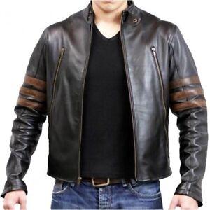Wolverine-Men-Genuine-Lambskin-Motorcycle-Real-Leather-Jacket-Biker-Vintage-Coat