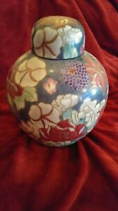 Beautiful Vintage Chinese Ginger Jar Hand Painted Flowers