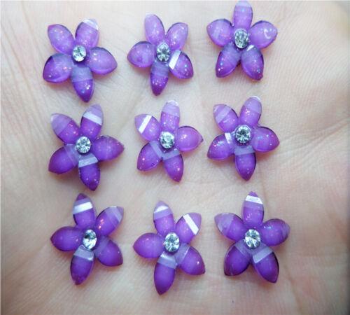 NEW DIY 40pcs 12mm resin flowers flatback Scrapbooking for phone//wedding Crafts