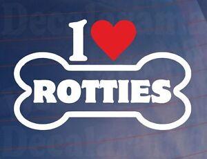 I-LOVE-HEART-ROTTIES-Novelty-Bone-Car-Van-Window-Sticker-Ideal-for-Dog-Owners
