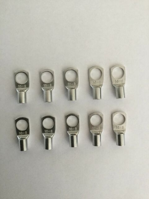 Cable Lugs To Suit 8 B&S Cable,10mm2,8mm Bolt Hole X10