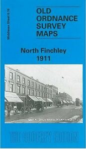 Adaptable Vieux Ordnance Survey Map North Finchley 1911-afficher Le Titre D'origine