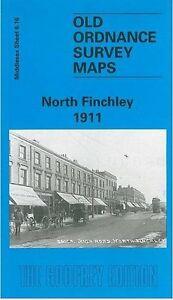 Adroit Vieux Ordnance Survey Map North Finchley 1911-afficher Le Titre D'origine