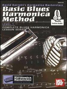 Basic-Blues-Harmonica-Method-Level-1-Sheet-Music-Book-with-Audio-apprendre-a-jouer