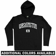 Washington DC Hoodie - DCA IAD Capitals Wizards Redskins Nationals - Men S-3XL