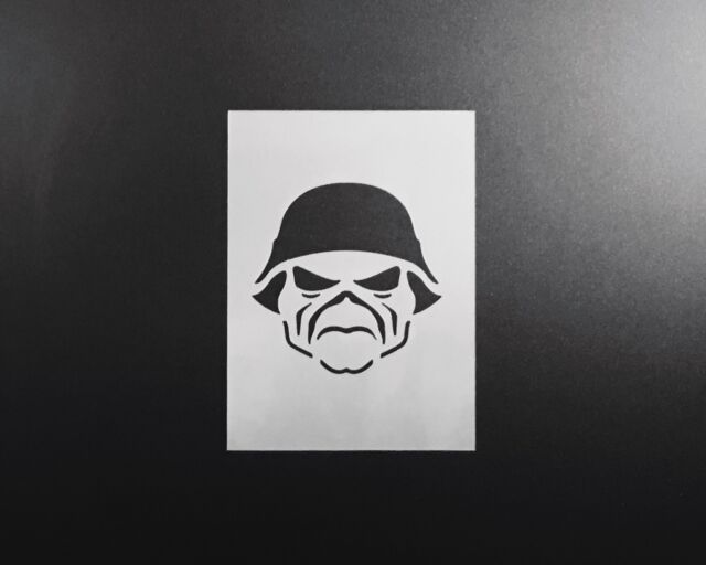 Iron Maiden Eddie The Head Stencil Airbrush Wall Art Craft Music Diy