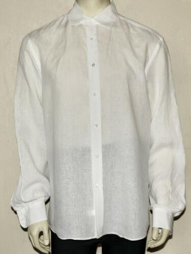 Ralph Lauren Purple Label white linen dress shirt