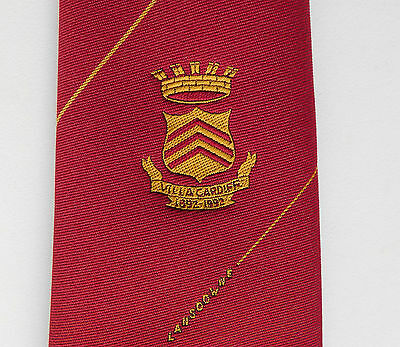 Villa Cardiff 1892 1992 Lansdowne Commemorative tie Sports 1892-1992 IMPERFECT