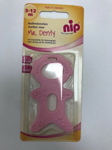 nip Mr Denty Teether Man Baby Teether Pink and Blue Options 3-12 months