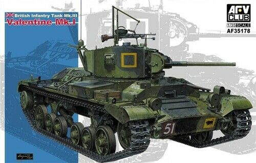 AFV Club Valentine Mk1 Tank 1 35 AF35178