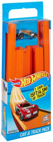 Hot Wheels Track Builder Straight Track Includes 15 Feet of Track and Bonus Car,