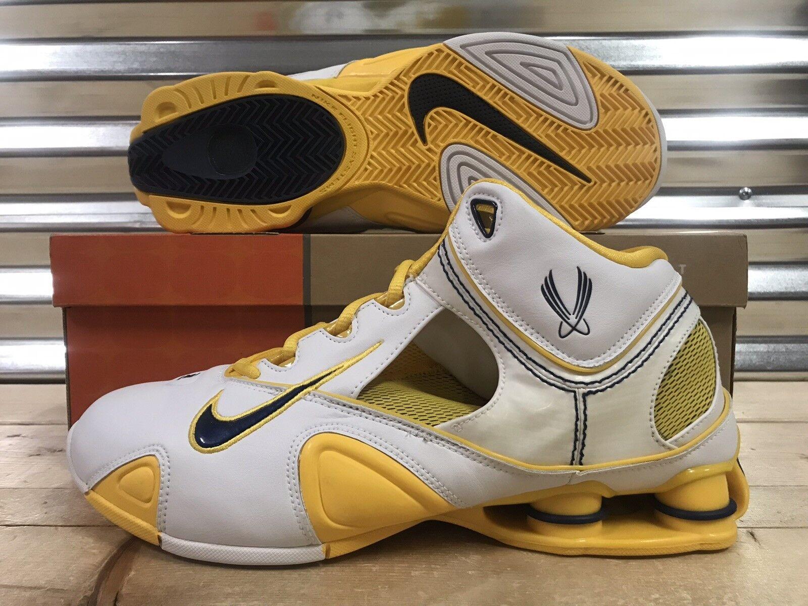 Nike Shox Certified Retro shoes Vince Carter Navy Maize SZ 11.5 ( 312744-146 )