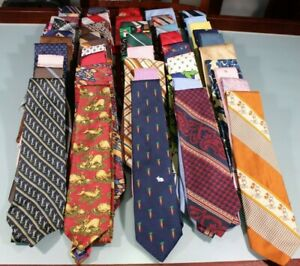 8133d3c4ebe7 Vintage 50s 90s Men's Necktie Lot of 50 Silk Etc Klein Yves St ...