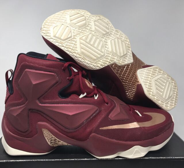 Nike Lebron XIII Cavaliers 13 Men Basketball Shoes Team Red Bronze 15