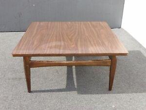 Vintage Danish Mid Century Modern Square Peg Leg Coffee Table Ebay