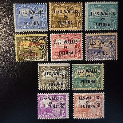 Nr.9/10 Neu Mit Originale Gummi Australien, Ozean. & Antarktis Geschickt Wallis Und Futuna Steuer N°1/8 Briefmarken