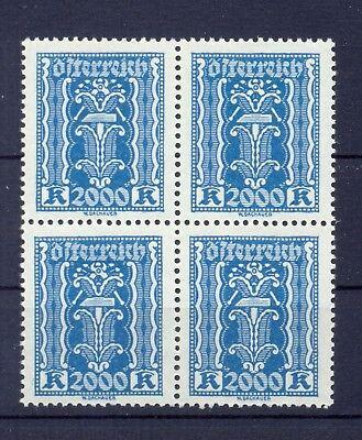 Ank 395** 2000 Kronen Blau Viererblock Top-postfrisch Hoher Katalogwert 104 Euro Briefmarken Österreich 1918-1944