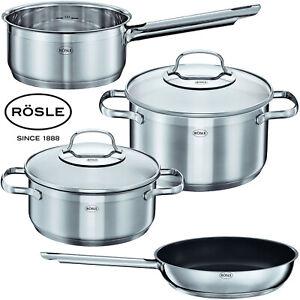 Roesle-Edelstahl-Induktion-6tlg-Topfset-Kasserolle-24cm-Brat-Pfanne-Koch-Topf-Set