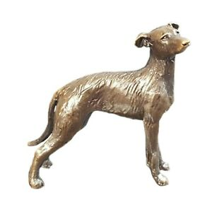 Lurcher Dog Bronze Miniature Sculpture - Butler & Peach 2073 50% De RéDuction