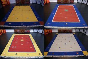Designer-Natur-Kelim-Gabbeh-Kinderteppich-Handarbeit-wolle-verschiedene-Groesse