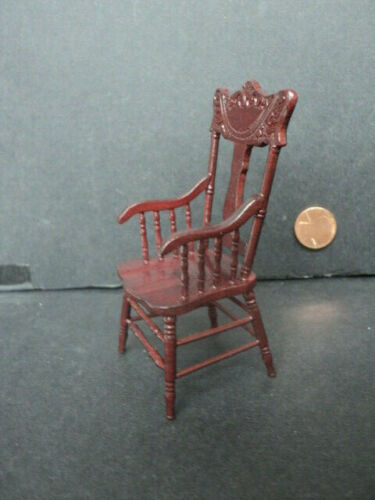 DOLLHOUSE KITCHEN CHAIR CARVED MAHOGANY