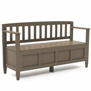 Superb Details About Brooklyn Solid Wood 48 Inch Wide Contemporary Entryway Storage Bench In Farmh Gmtry Best Dining Table And Chair Ideas Images Gmtryco