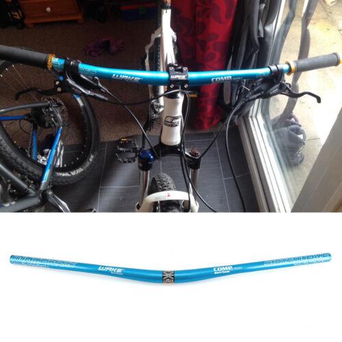 Blue Letter Print MTB Bike Bicycle Extra Long Handlebar Big Riser Bar 31.8x780mm