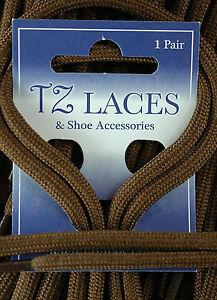 Cable Redondo Marrón 5mm Cordones Zapatos botas botas montaña