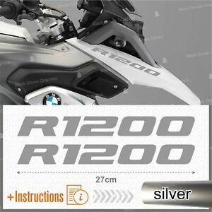 2pcs-Adesivi-Argento-compatibile-Moto-BMW-R-1200-GS-LC-R1200-ADVENTURE-R1200GS