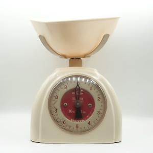 Vintage Retro Kitchen Salter Scales Retro Plasticware 1950s Cream Red Decor