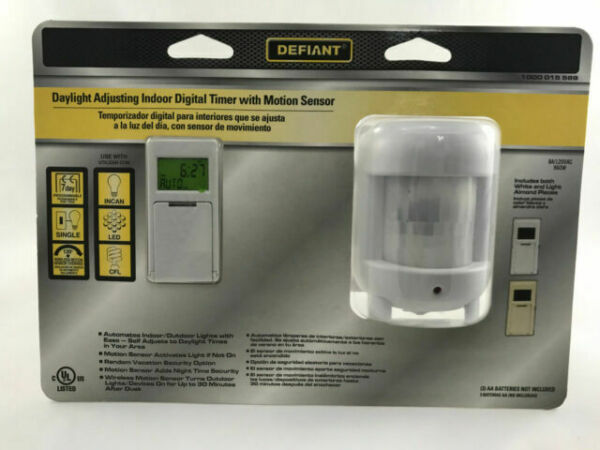 1000 015 589 Defiant Daylight Adjusting Indoor Digital TImer W// Motion Sensor