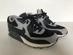 uk availability d8dab 76023 Image is loading Nike-Air-Max-90-Essential-Black-Wolf-Grey-