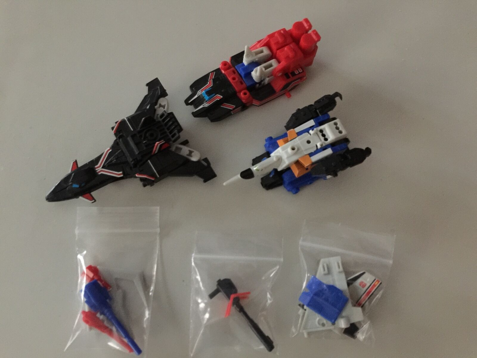 Transformers G1 KABAYA DAI ATLAS sonic bomber set mini figure complete SET
