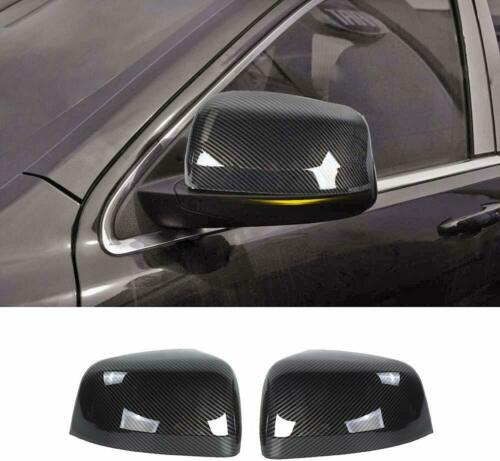 2*Carbon Fiber ABS Rear-View Mirror Cover Trim For Jeep Grand Cherokee 2011-2020