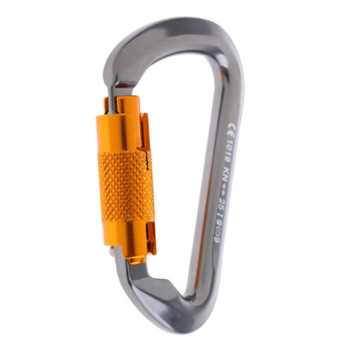 3 Stück 25KN Karabinerhaken Aluminium D Ring Schnalle für Klettern