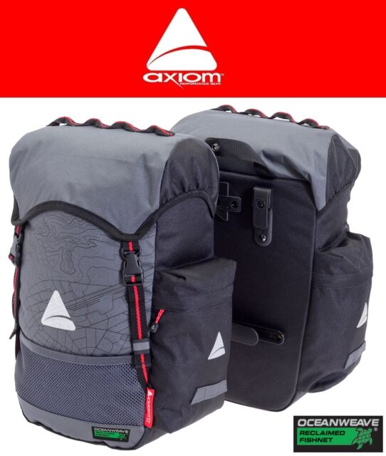 Axiom Seymour Oceanweave P35 Bike Panniers Pair Commuter Bags Touring Saddlebag