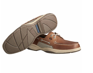 New-Sperry-Men-039-s-Intrepid-2-Top-Sider-Dark-Tan-Leather-Casual-Boat-Shoes-SIZEs