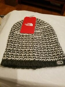 37133d18557 The North Face Kaylinda Beanie Weathered Black Vintage White NWT  40 ...