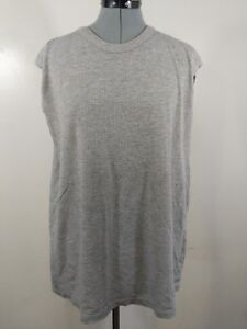 Russell-Athletic-Men-039-s-Sleeveless-Tank-Size-L-Jersey-Mesh-Cotton-Knit-Gray-m