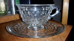 Crystal Fostoria American Cup & Saucer