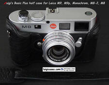 *LUIGI NEW BLACK BASIC PLUS ITALY CASE for LEICA MONOCHROM1,M9P,M9,M8+GRIP+STRAP