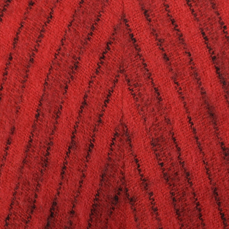 Medium 1980s Pauline Trigere Coat Red Black Strip… - image 12